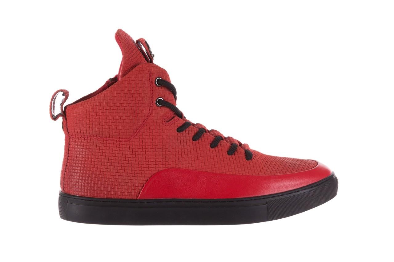 Sneakersy john doubare m7961-3 red, czerwony, skóra naturalna - brooman - nasze marki 10