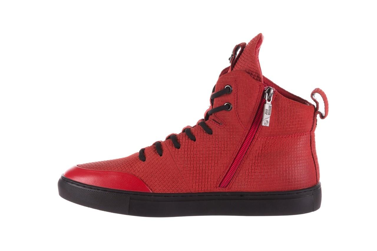 Sneakersy john doubare m7961-3 red, czerwony, skóra naturalna - brooman - nasze marki 12