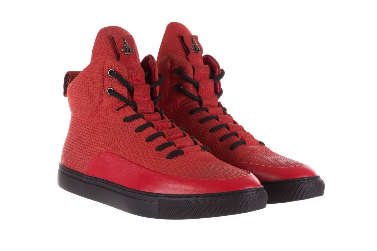 Sneakersy john doubare m7961-3 red, czerwony, skóra naturalna - brooman - nasze marki 11