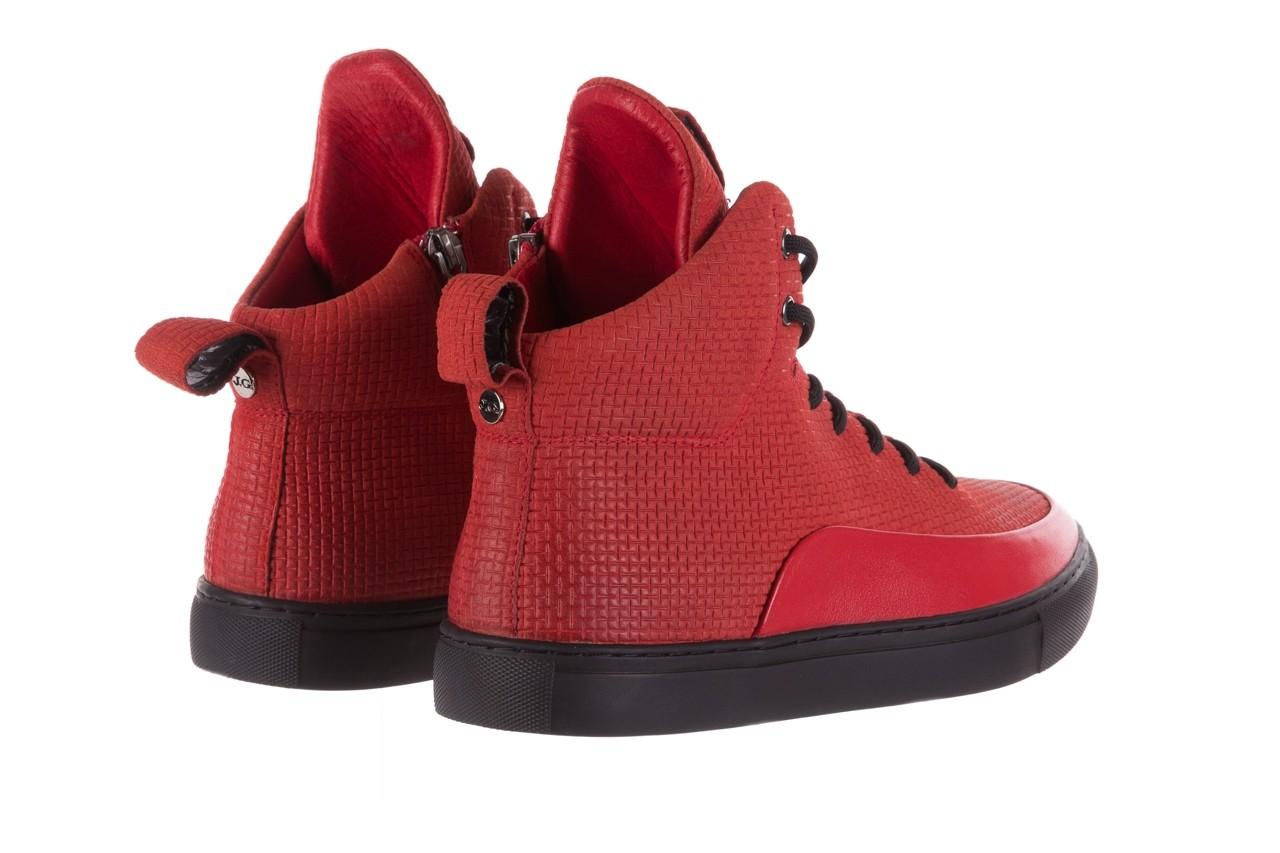 Sneakersy john doubare m7961-3 red, czerwony, skóra naturalna - brooman - nasze marki 13