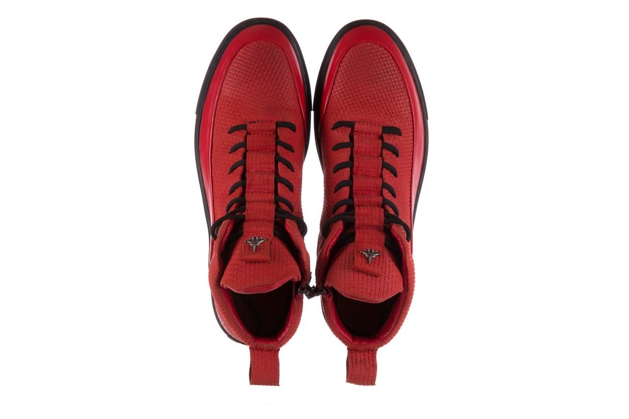 Sneakersy john doubare m7961-3 red, czerwony, skóra naturalna - brooman - nasze marki 14