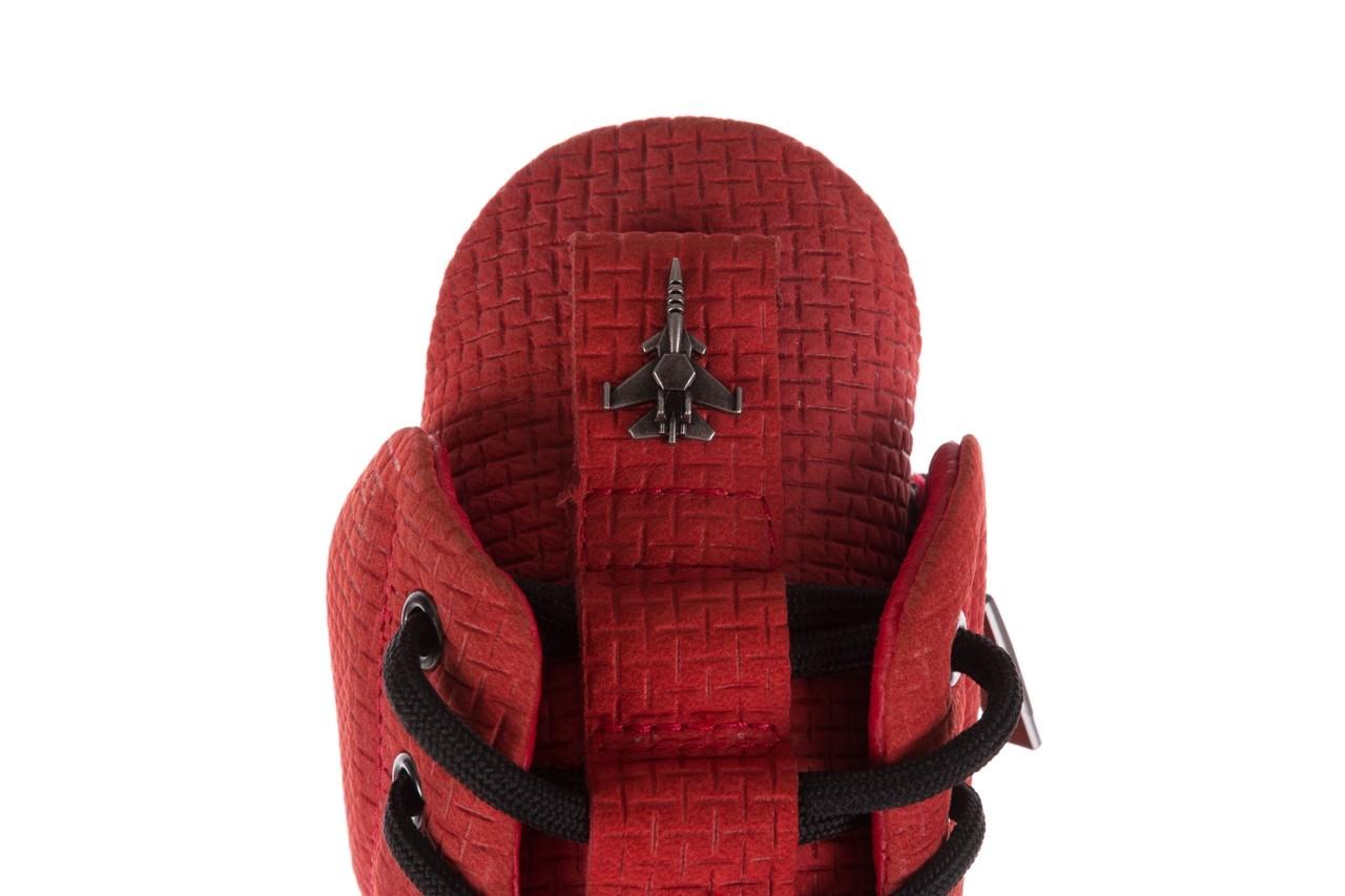 Sneakersy john doubare m7961-3 red, czerwony, skóra naturalna - brooman - nasze marki 16