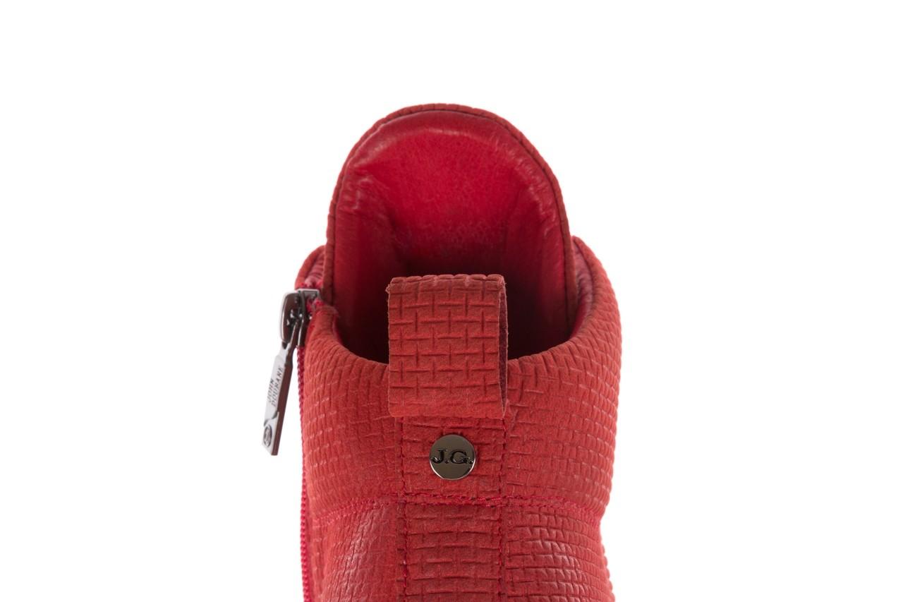 Sneakersy john doubare m7961-3 red, czerwony, skóra naturalna - brooman - nasze marki 18