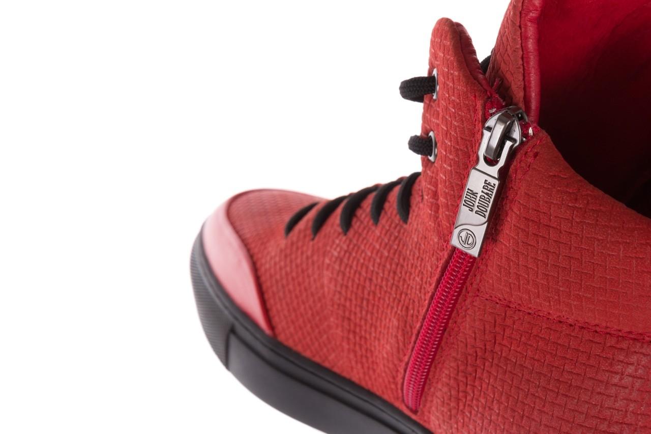 Sneakersy john doubare m7961-3 red, czerwony, skóra naturalna - brooman - nasze marki 19