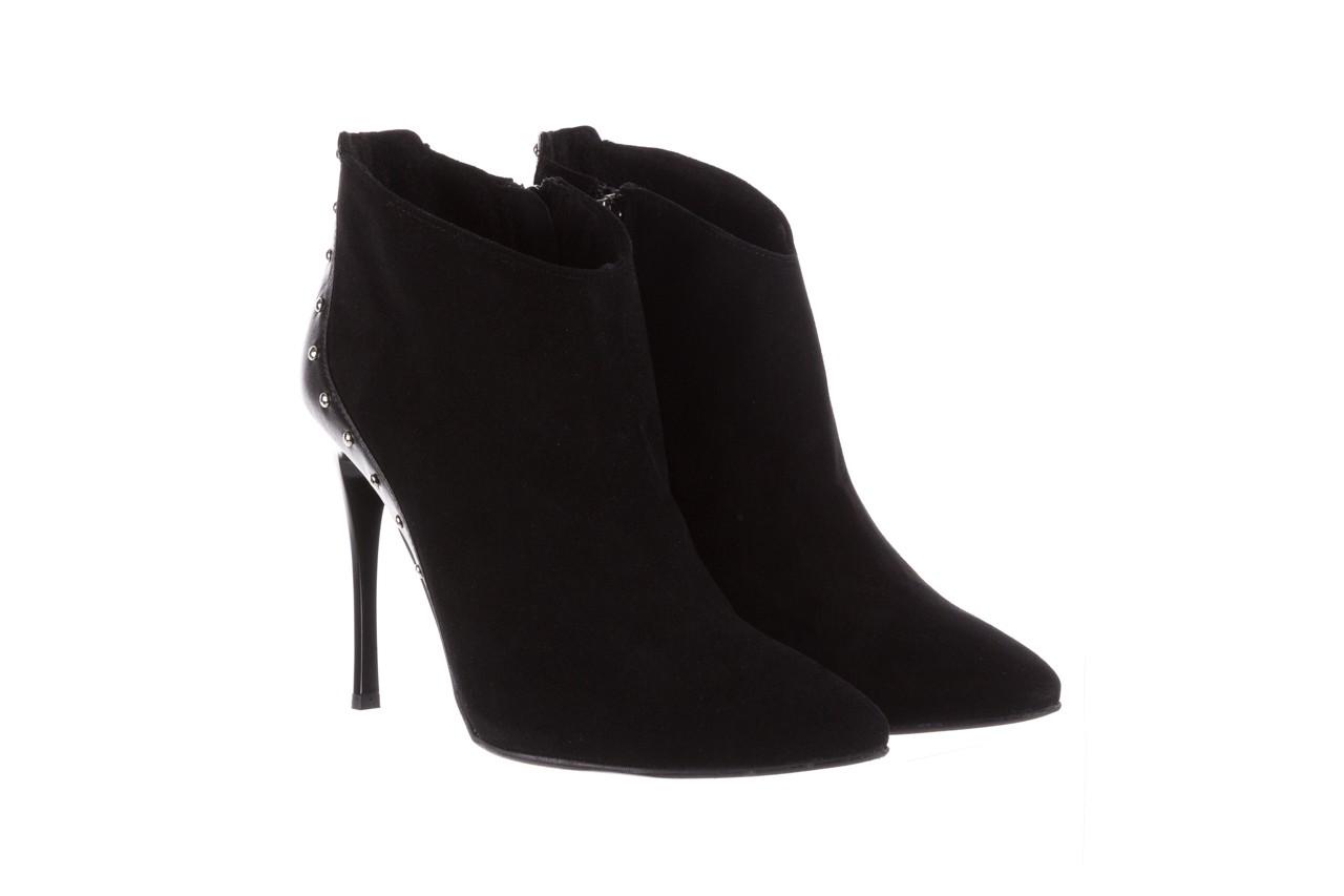 Botki bayla-097 21 botki czarne, skóra naturalna - na szpilce - botki - buty damskie - kobieta 8