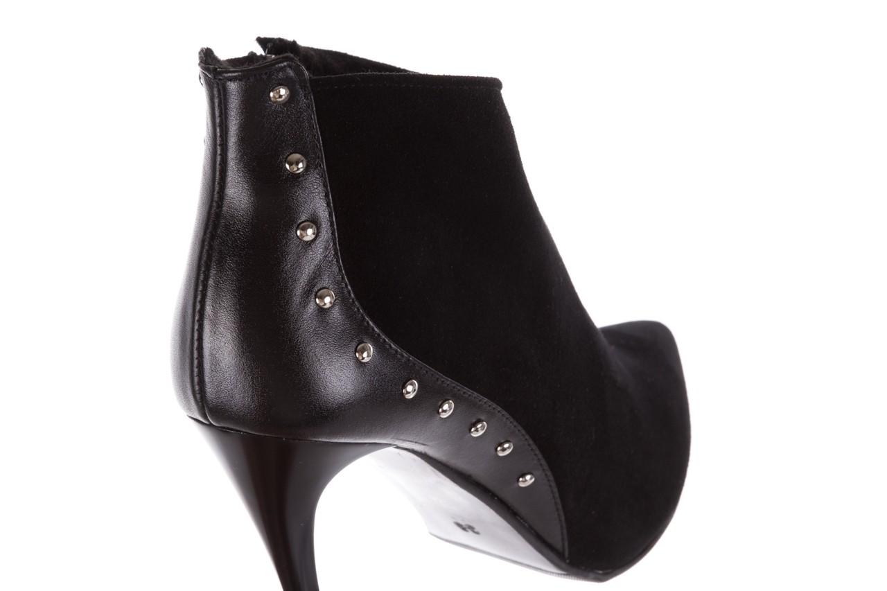 Botki bayla-097 21 botki czarne, skóra naturalna - na szpilce - botki - buty damskie - kobieta 12