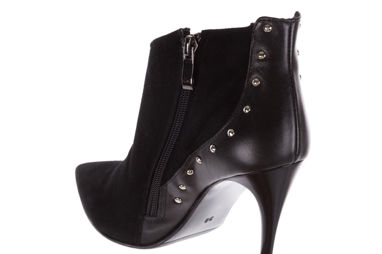 Botki bayla-097 21 botki czarne, skóra naturalna - na szpilce - botki - buty damskie - kobieta 13