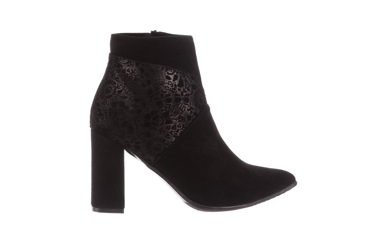Botki bayla-097 19 botki czarne, skóra naturalna - zamszowe - botki - buty damskie - kobieta 9