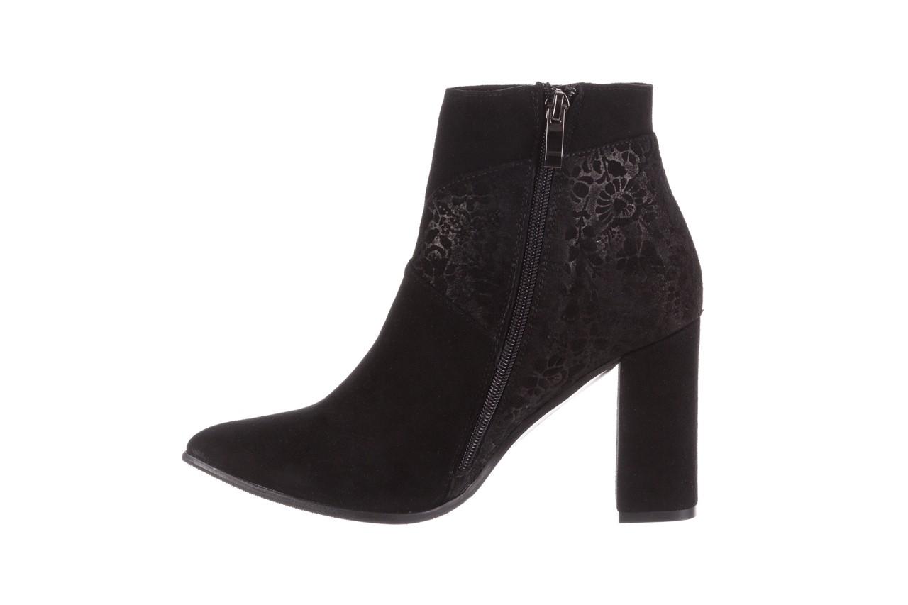 Botki bayla-097 19 botki czarne, skóra naturalna - zamszowe - botki - buty damskie - kobieta 11