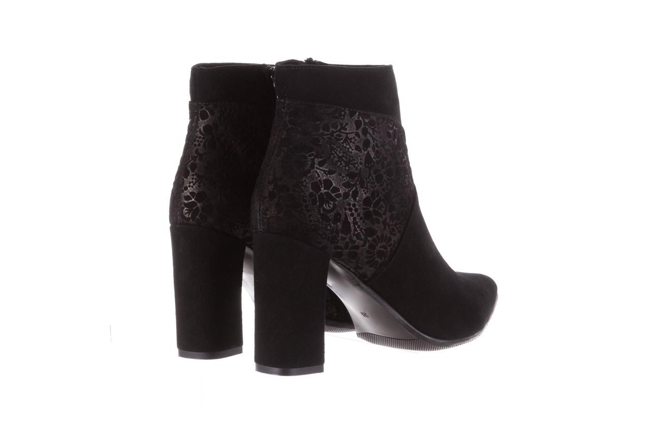 Botki bayla-097 19 botki czarne, skóra naturalna - zamszowe - botki - buty damskie - kobieta 12
