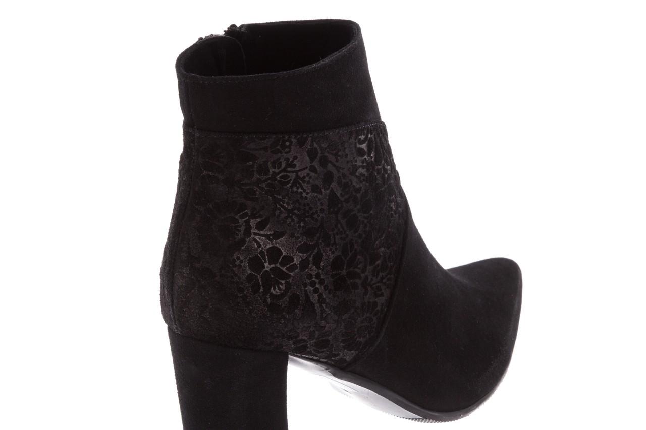 Botki bayla-097 19 botki czarne, skóra naturalna - zamszowe - botki - buty damskie - kobieta 14