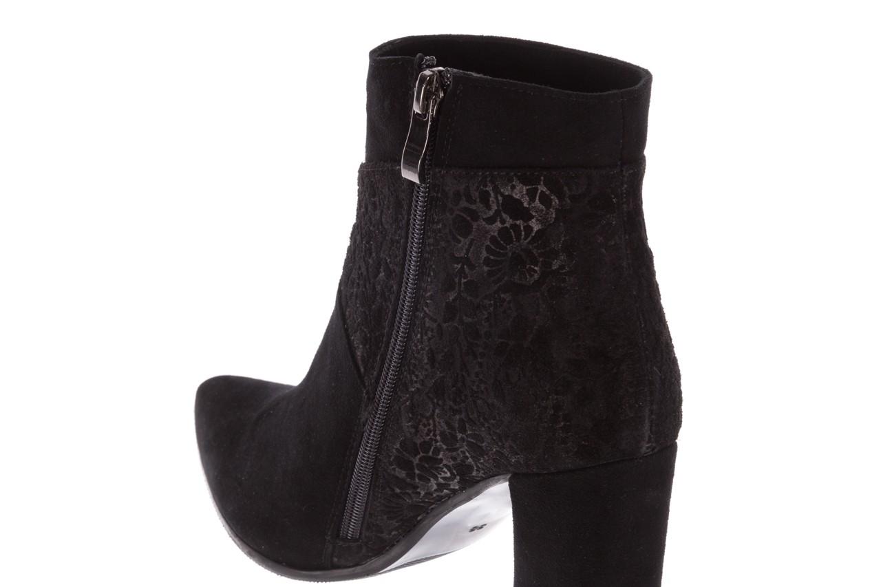 Botki bayla-097 19 botki czarne, skóra naturalna - zamszowe - botki - buty damskie - kobieta 16