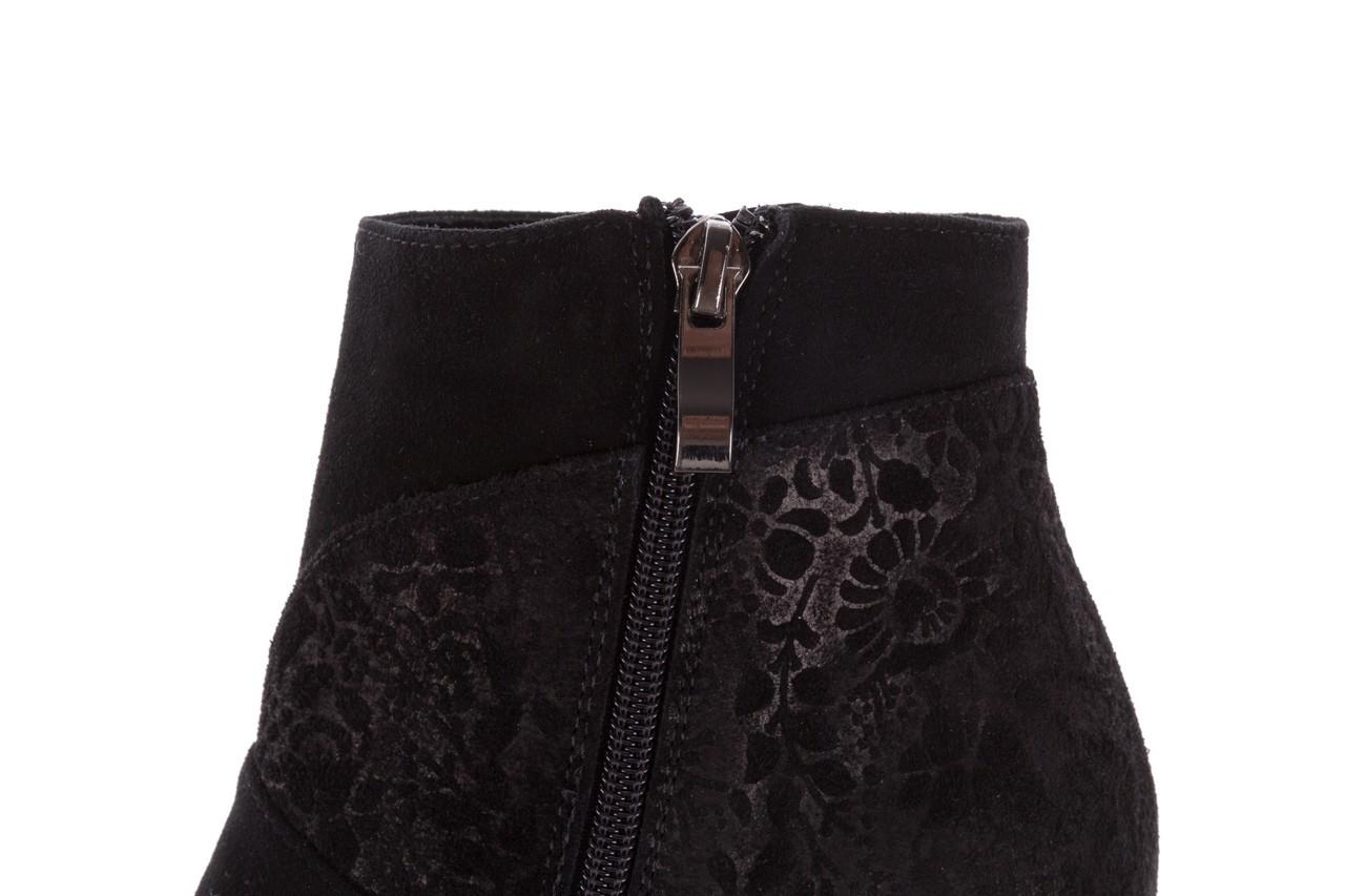 Botki bayla-097 19 botki czarne, skóra naturalna - zamszowe - botki - buty damskie - kobieta 15