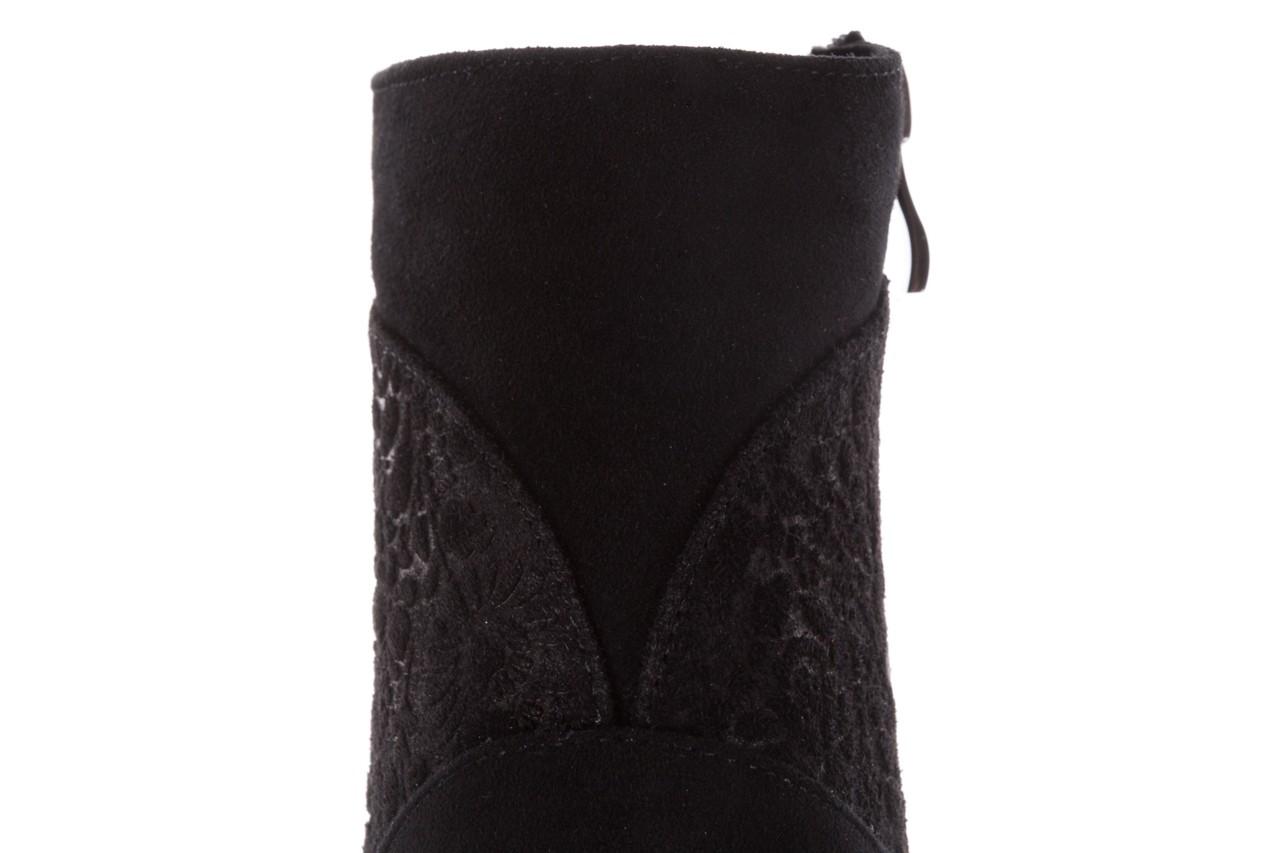 Botki bayla-097 19 botki czarne, skóra naturalna - zamszowe - botki - buty damskie - kobieta 17