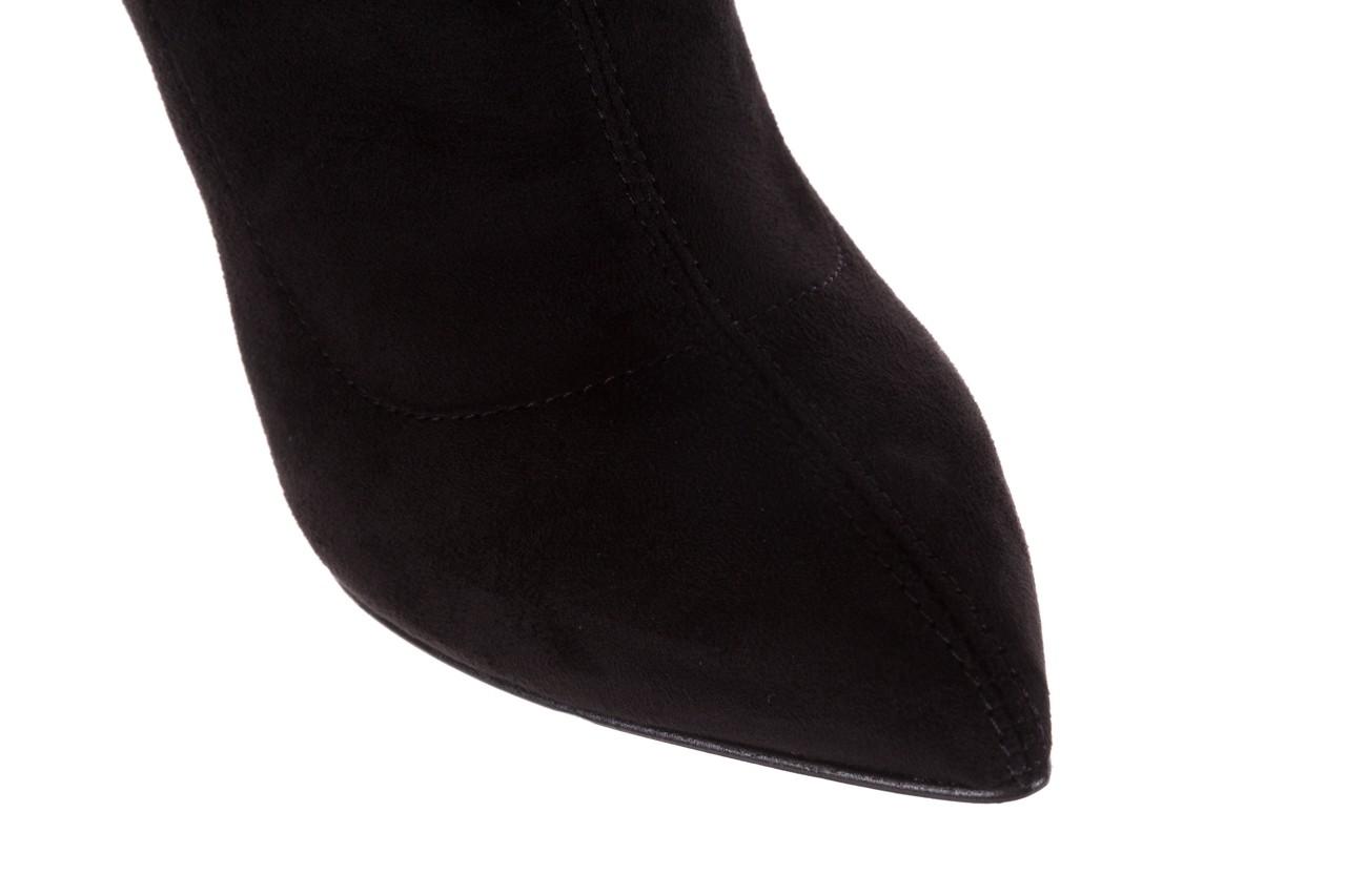 Botki bayla-056 9068-730 czarne botki zamsz stretch, materiał - bayla - nasze marki 15