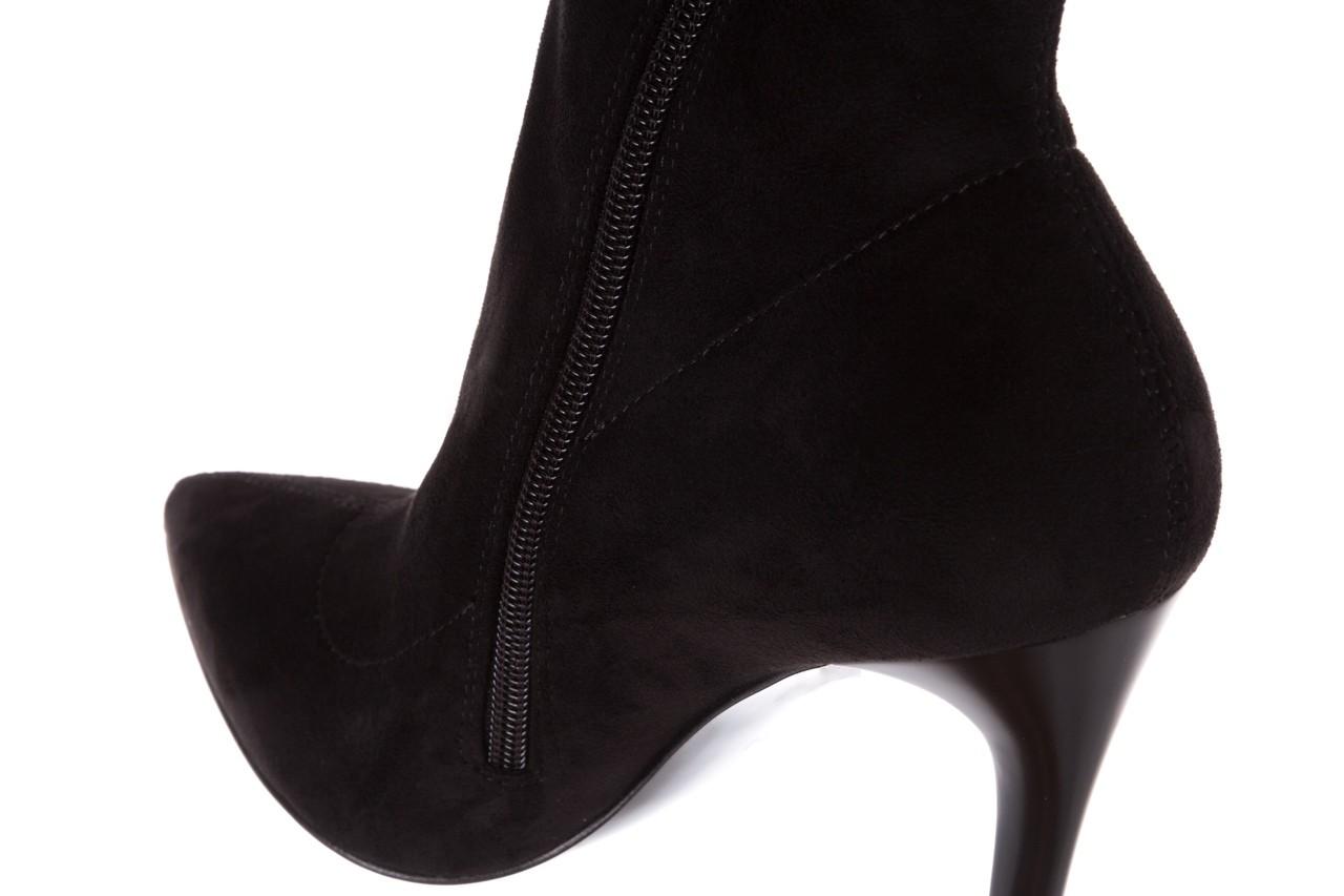 Botki bayla-056 9068-730 czarne botki zamsz stretch, materiał - bayla - nasze marki 16