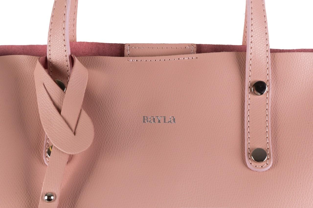 Torebka bayla-180 jasnoróżowa torebka ze skóry loren - akcesoria - kobieta 12