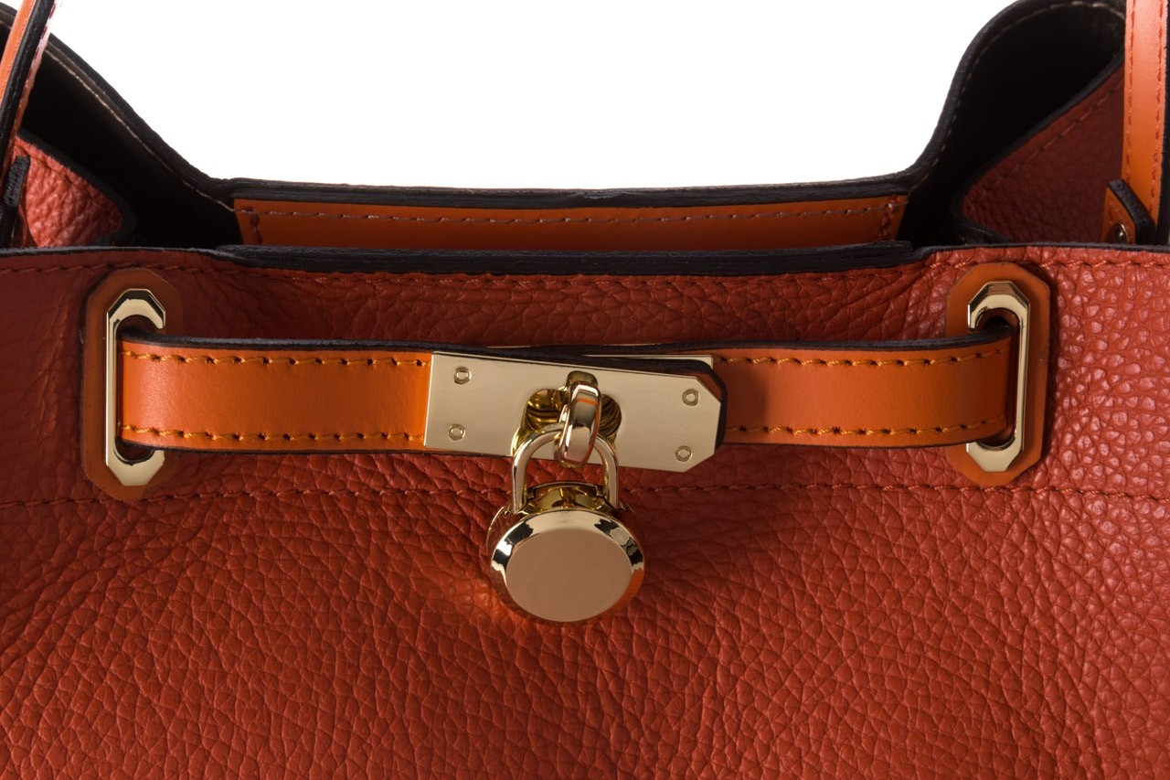 Torebka bayla-180 pomarańczowa torebka ze skóry hera - bayla - nasze marki 12