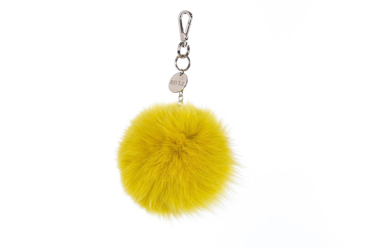Brelok bayla-125 brelok lis żółty łańcuch, futro naturalne  - bayla - nasze marki 1