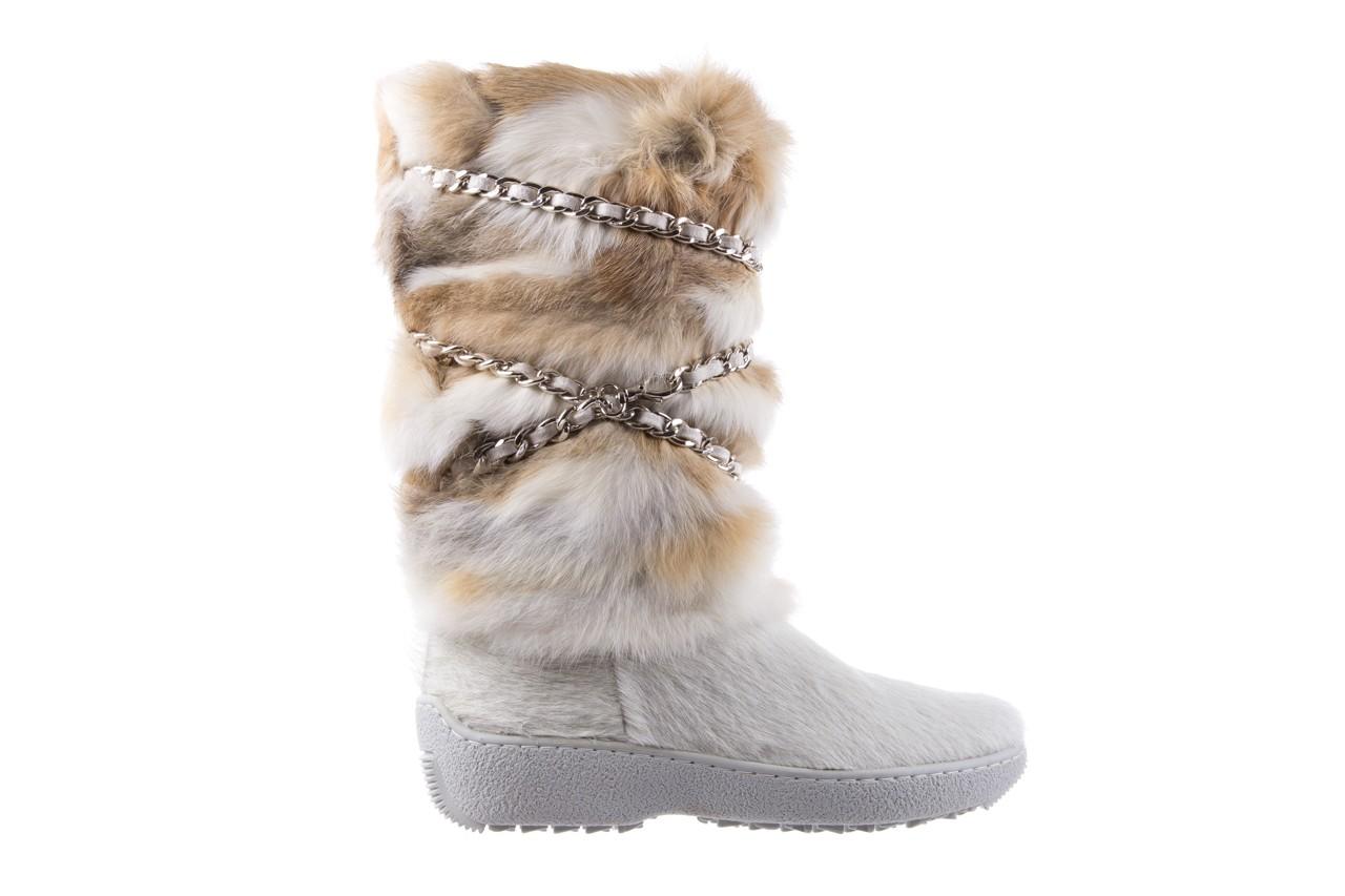 Śniegowce oscar brook bianco, biały/brąz, futro naturalne - oscar - nasze marki 6