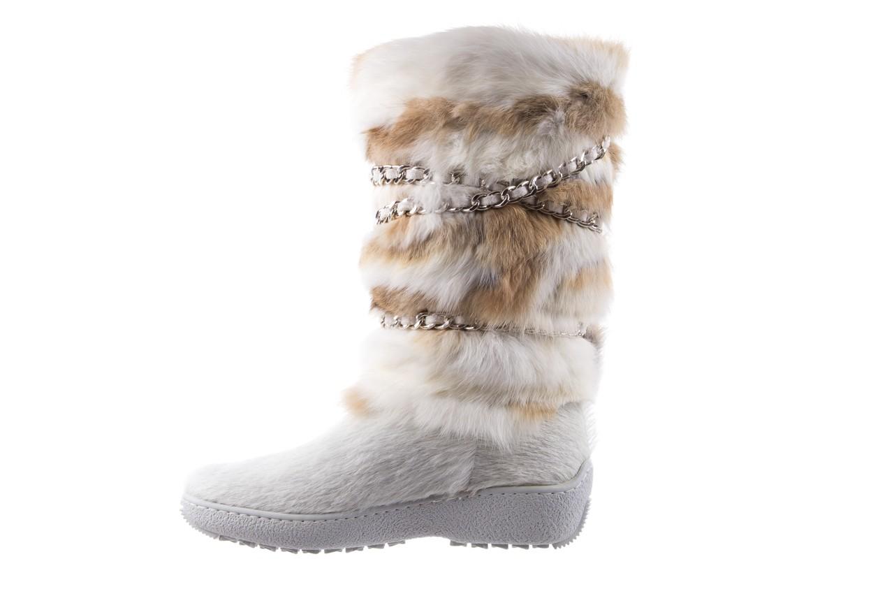 Śniegowce oscar brook bianco, biały/brąz, futro naturalne - oscar - nasze marki 8