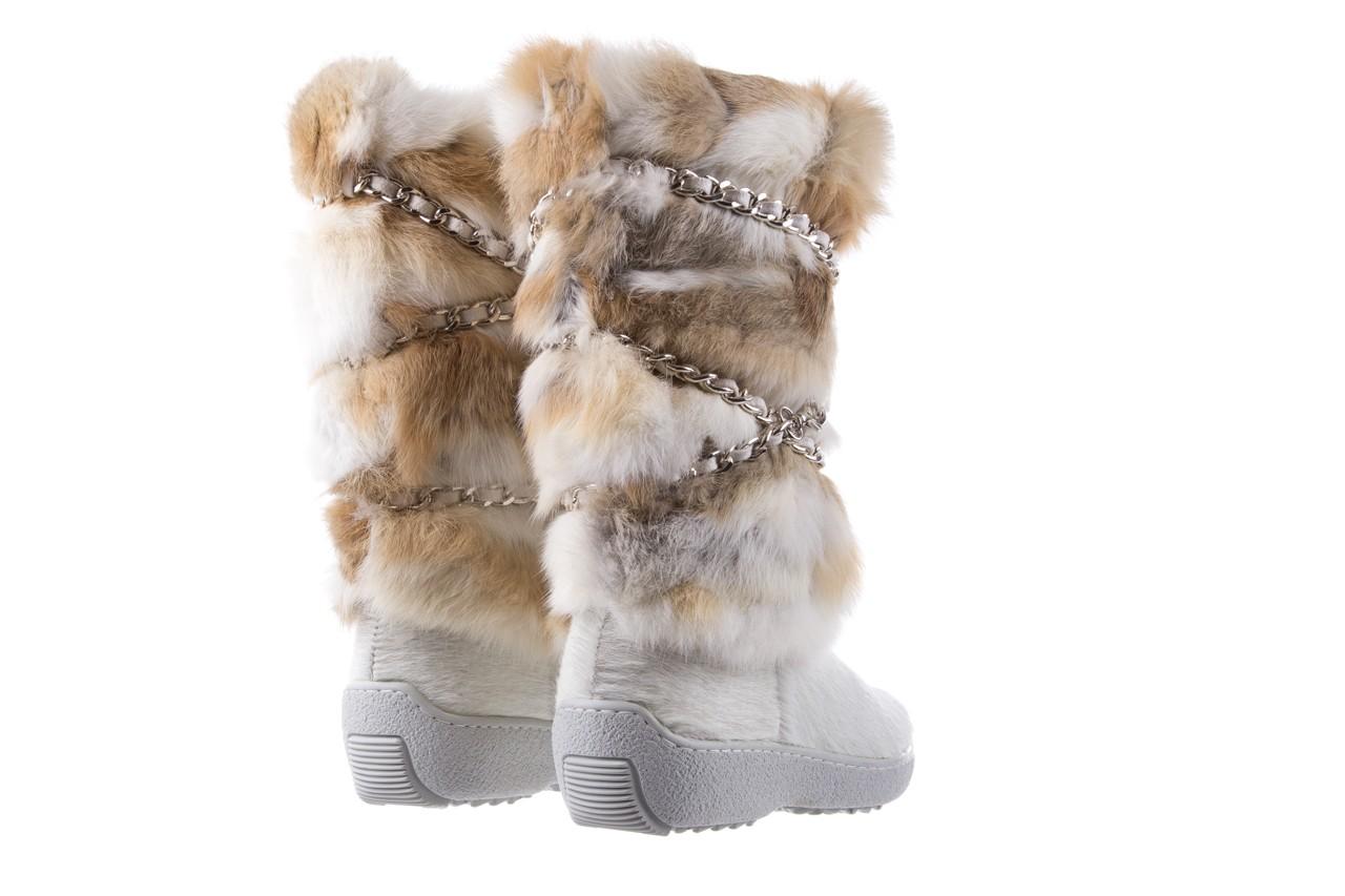 Śniegowce oscar brook bianco, biały/brąz, futro naturalne - oscar - nasze marki 9