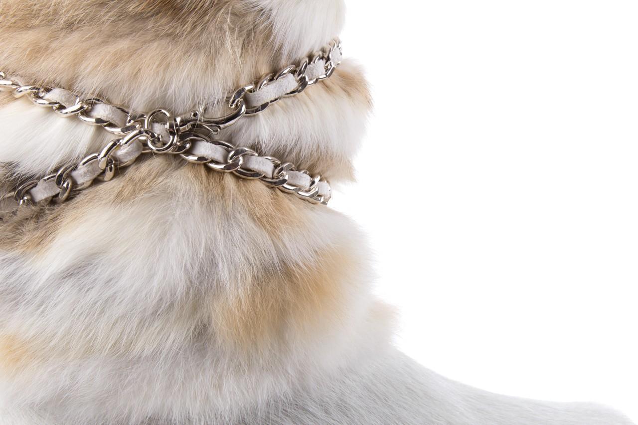 Śniegowce oscar brook bianco, biały/brąz, futro naturalne - oscar - nasze marki 11