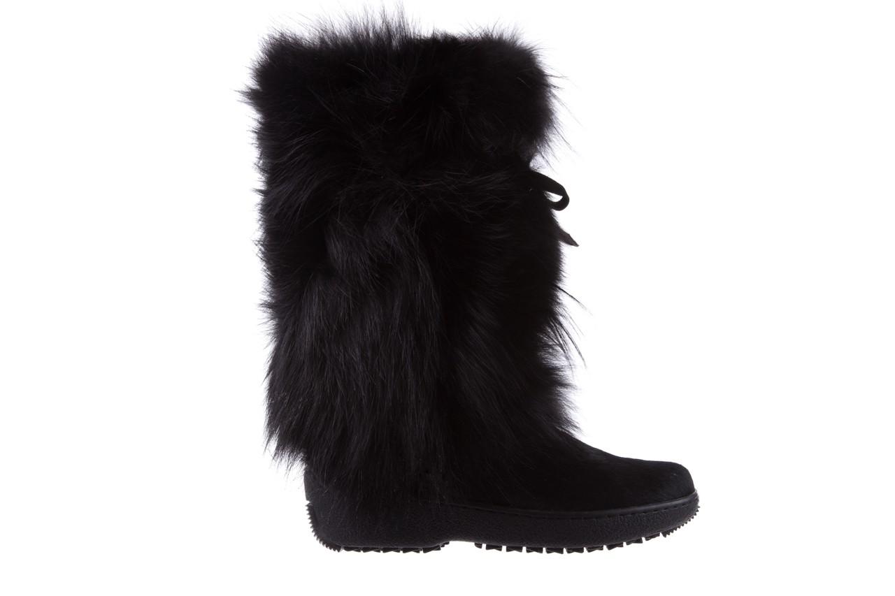Śniegowce oscar volpe nero, czarny, futro naturalna  - oscar - nasze marki 6