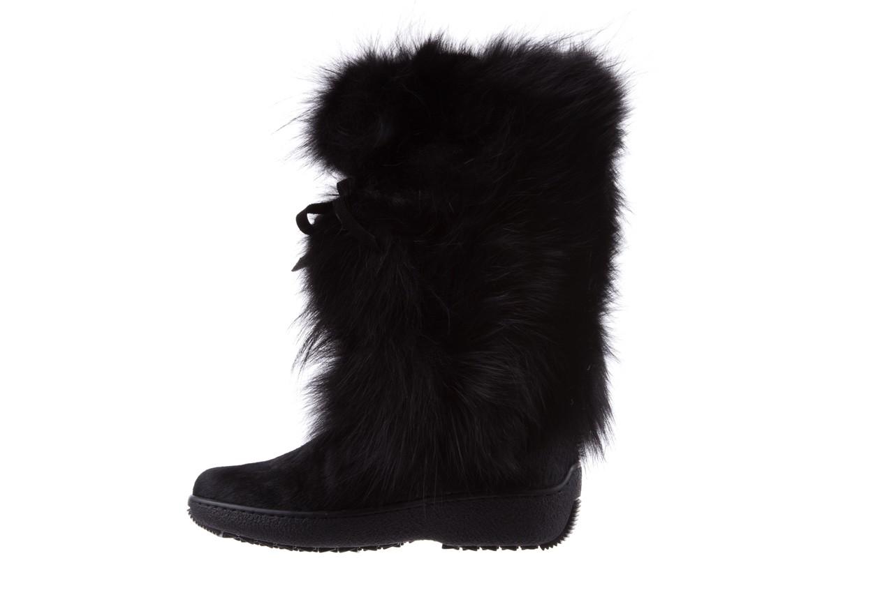 Śniegowce oscar volpe nero, czarny, futro naturalna  - oscar - nasze marki 8