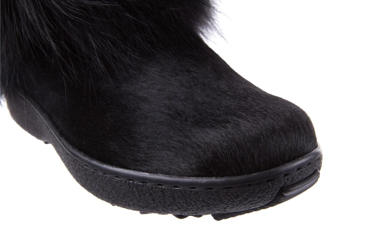 Śniegowce oscar volpe nero, czarny, futro naturalna  - oscar - nasze marki 10