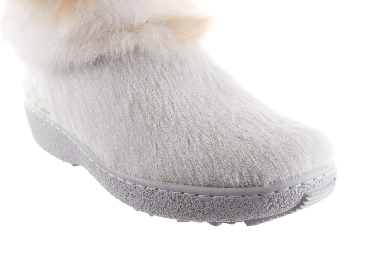 Śniegowce oscar brook bianco, biały/brąz, futro naturalne - oscar - nasze marki 10