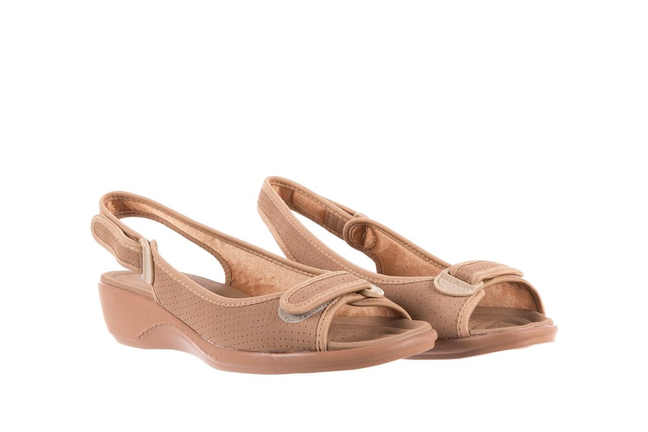 Sandały azaleia 322 248 nobuck beige, beż, materiał 8