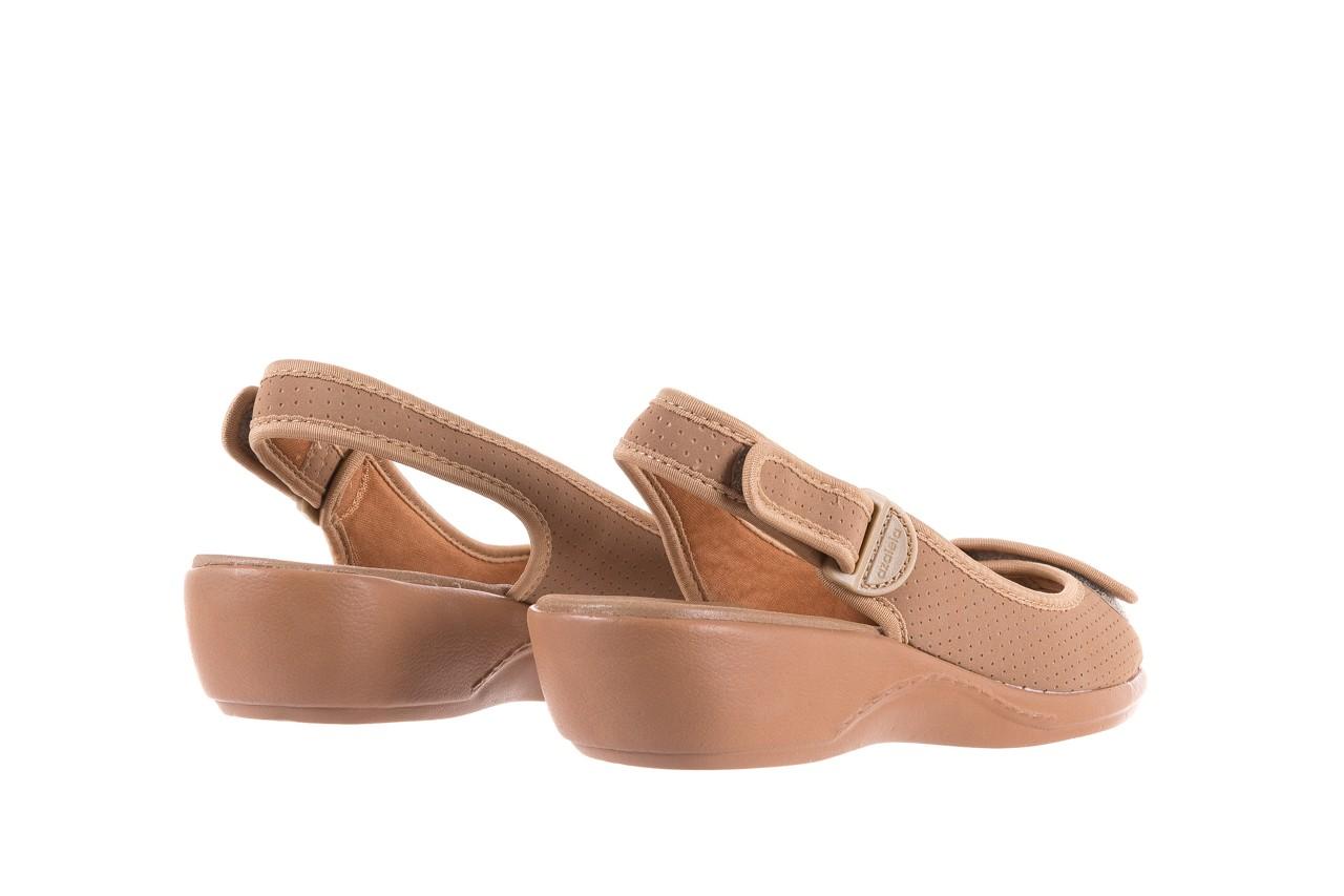 Sandały azaleia 322 248 nobuck beige, beż, materiał 10