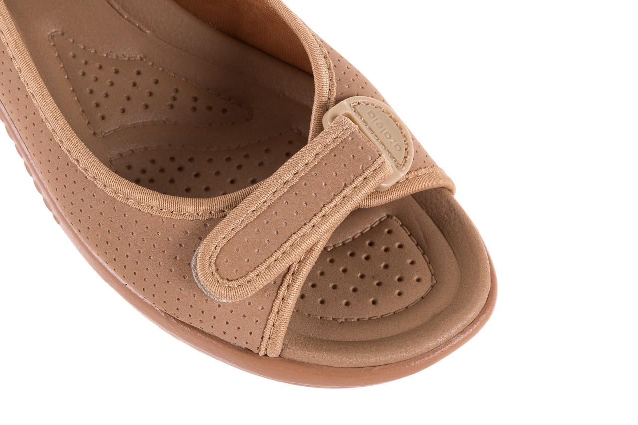 Sandały azaleia 322 248 nobuck beige, beż, materiał 12