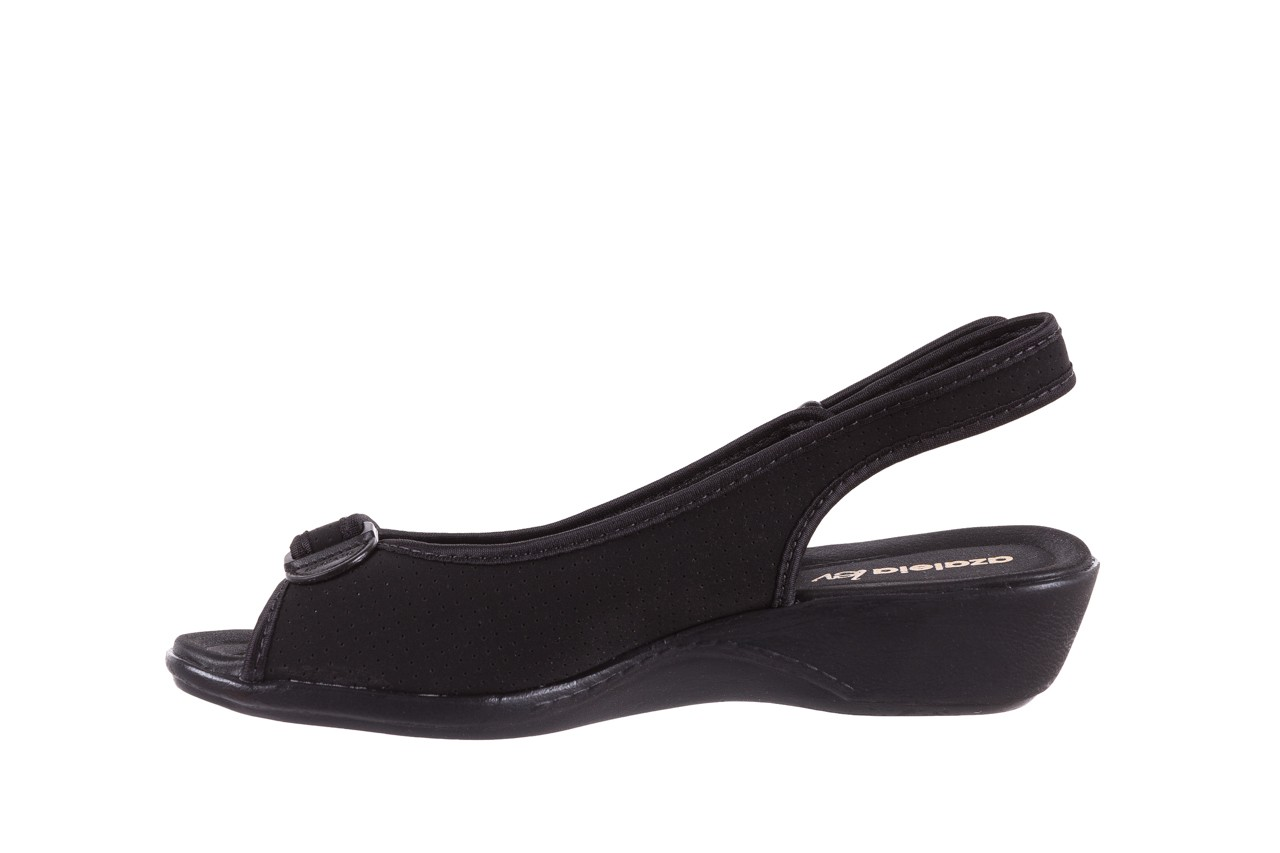 Sandały azaleia 322 248 nobuck black 17, czarny, materiał  - sandały - dla niej - dodatkowe -10% 9