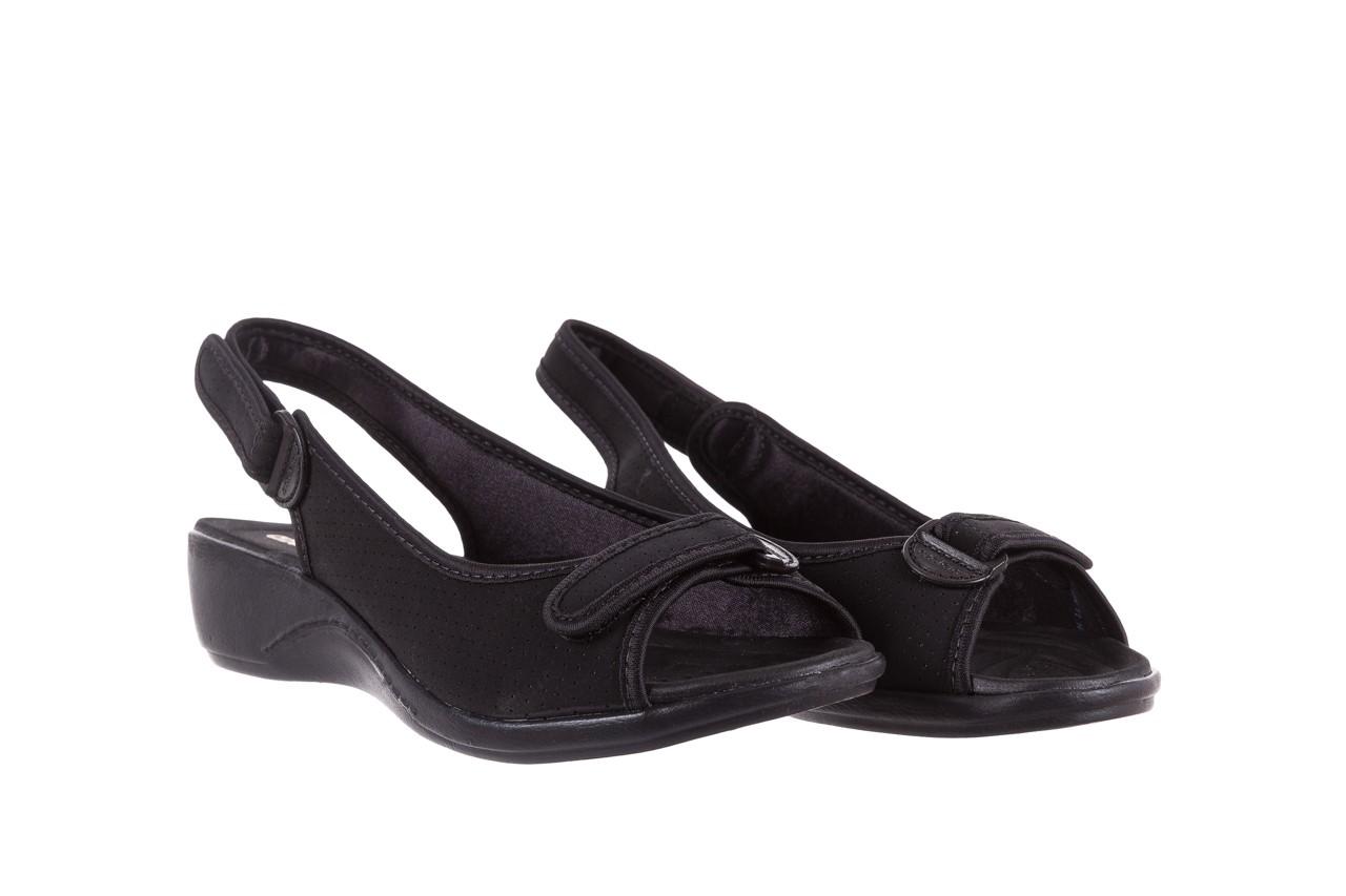 Sandały azaleia 322 248 nobuck black 17, czarny, materiał  - sandały - dla niej - dodatkowe -10% 8