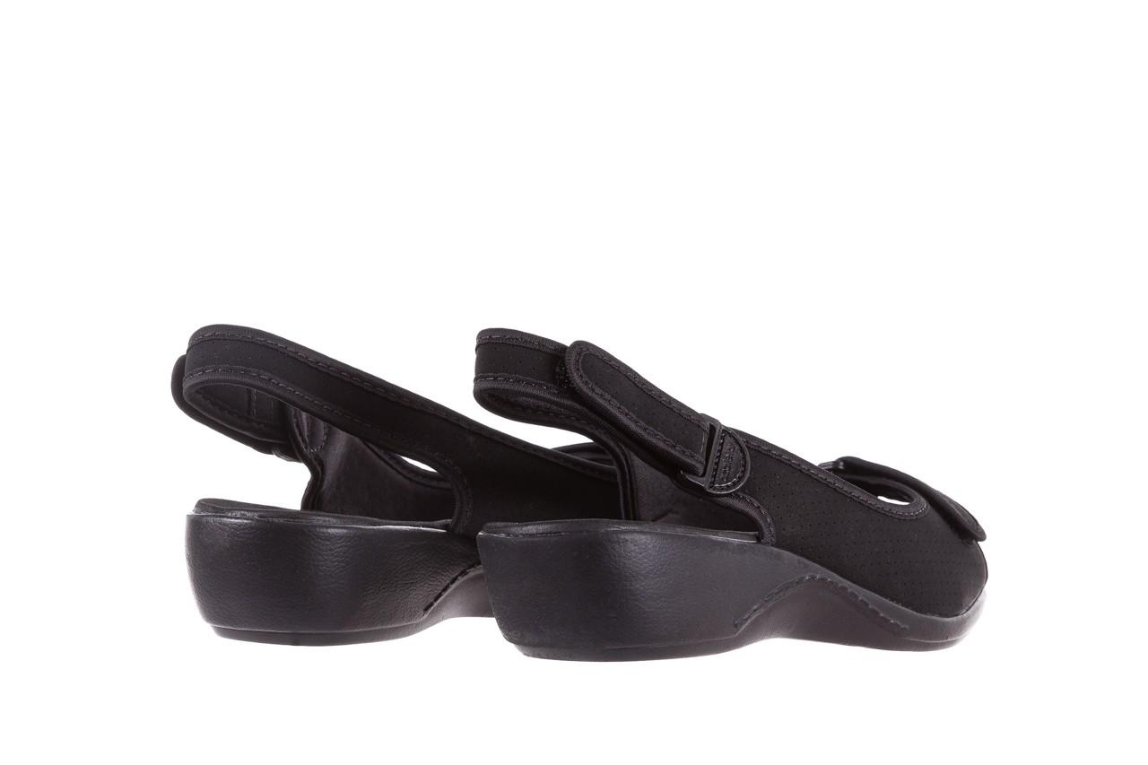 Sandały azaleia 322 248 nobuck black 17, czarny, materiał  - sandały - dla niej - dodatkowe -10% 10
