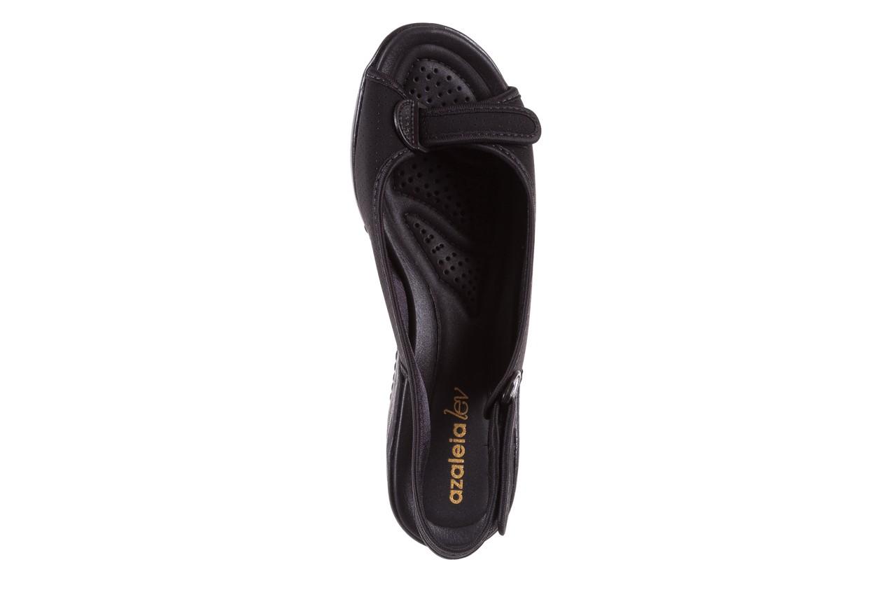 Sandały azaleia 322 248 nobuck black 17, czarny, materiał  - sandały - dla niej - dodatkowe -10% 11