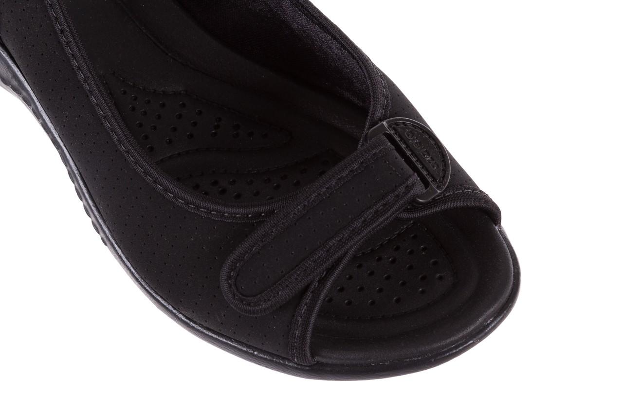 Sandały azaleia 322 248 nobuck black 17, czarny, materiał  - sandały - dla niej - dodatkowe -10% 12
