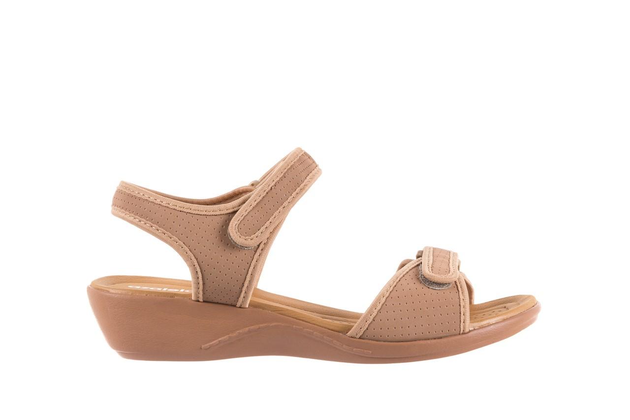 Sandały azaleia 322 363 nobuck beige, beż, materiał - sandały - dla niej - dodatkowe -10% 6