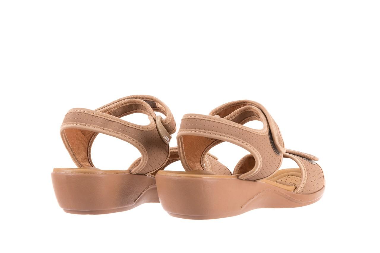 Sandały azaleia 322 363 nobuck beige, beż, materiał - sandały - dla niej - dodatkowe -10% 9