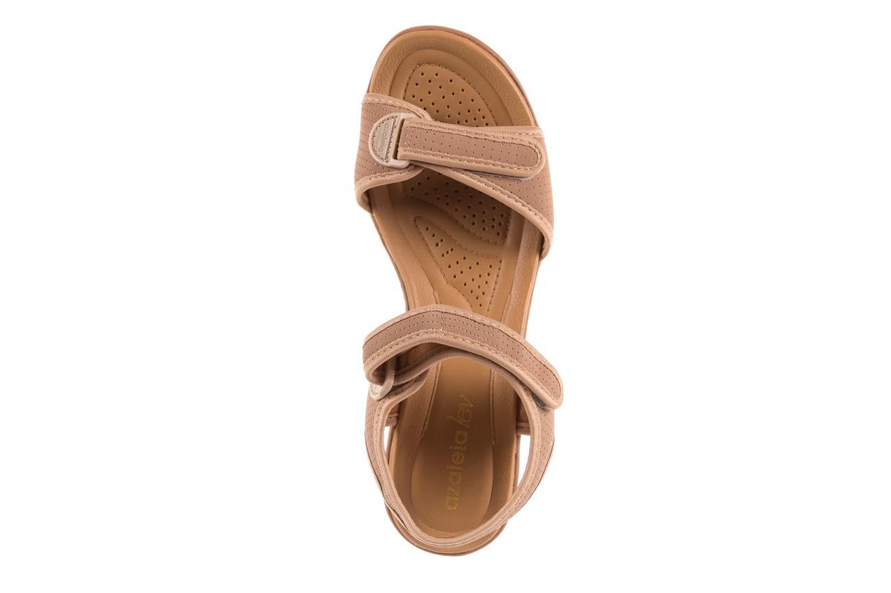 Sandały azaleia 322 363 nobuck beige, beż, materiał - sandały - dla niej - dodatkowe -10% 10