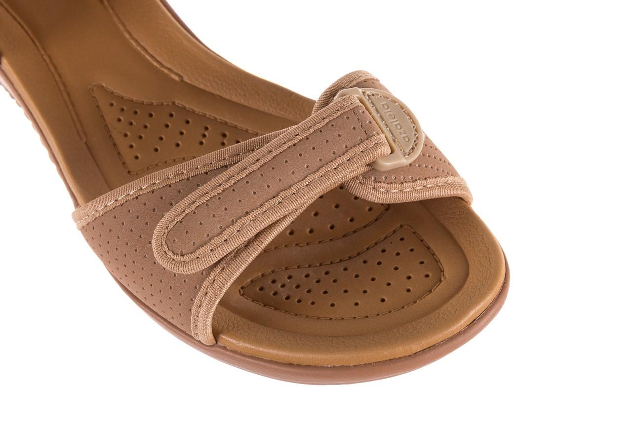 Sandały azaleia 322 363 nobuck beige, beż, materiał - sandały - dla niej - dodatkowe -10% 11