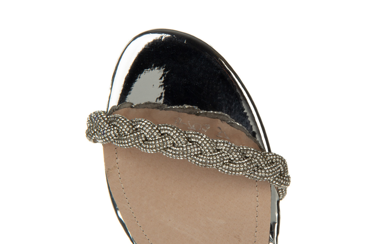 Klapki sca'viola b-205 silver 047180, srebro, silikon - klapki - buty damskie - kobieta 19