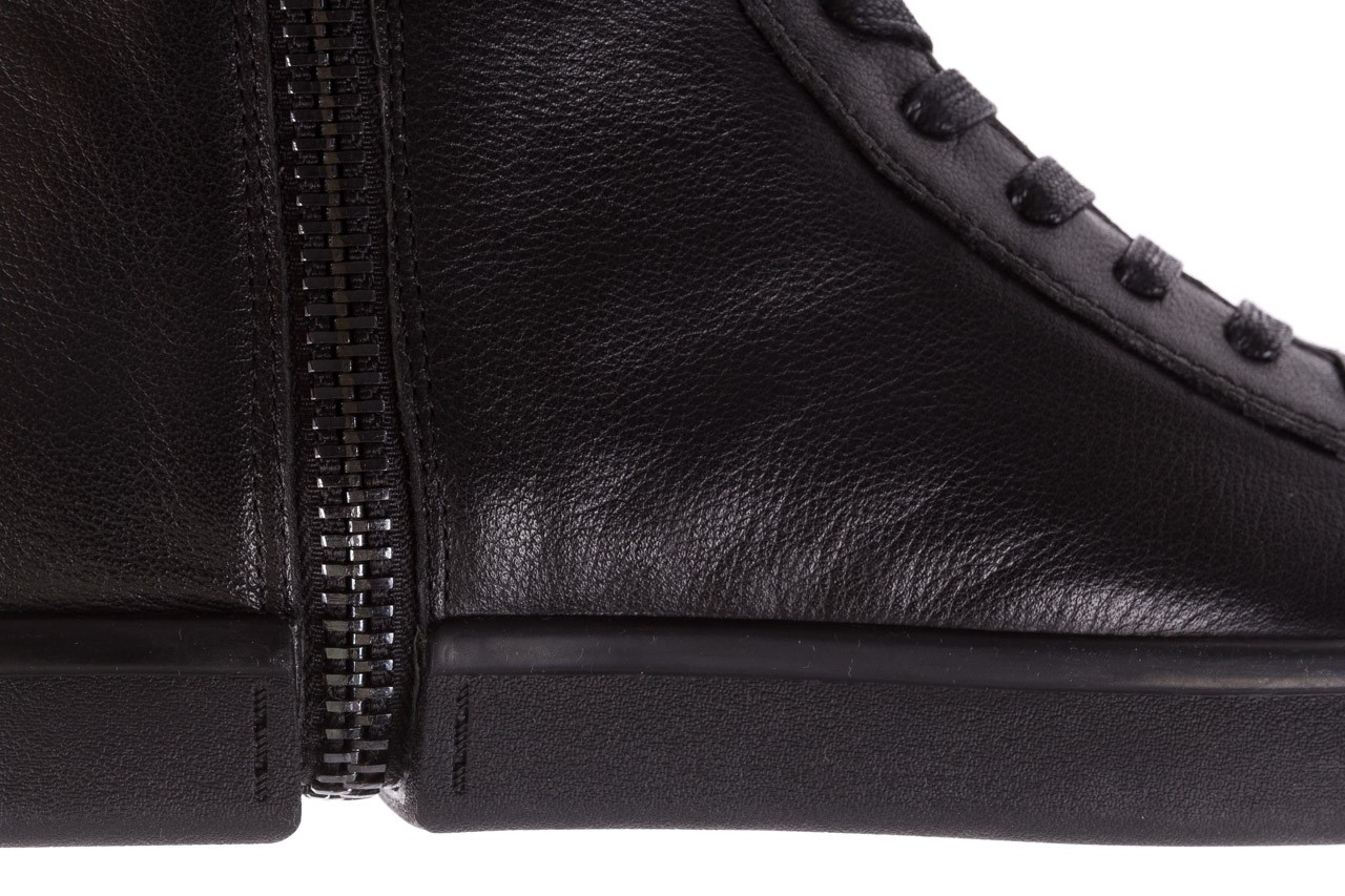 Sneakersy john doubare m5761-1 black, czarny , skóra naturalna  - trendy - mężczyzna 21