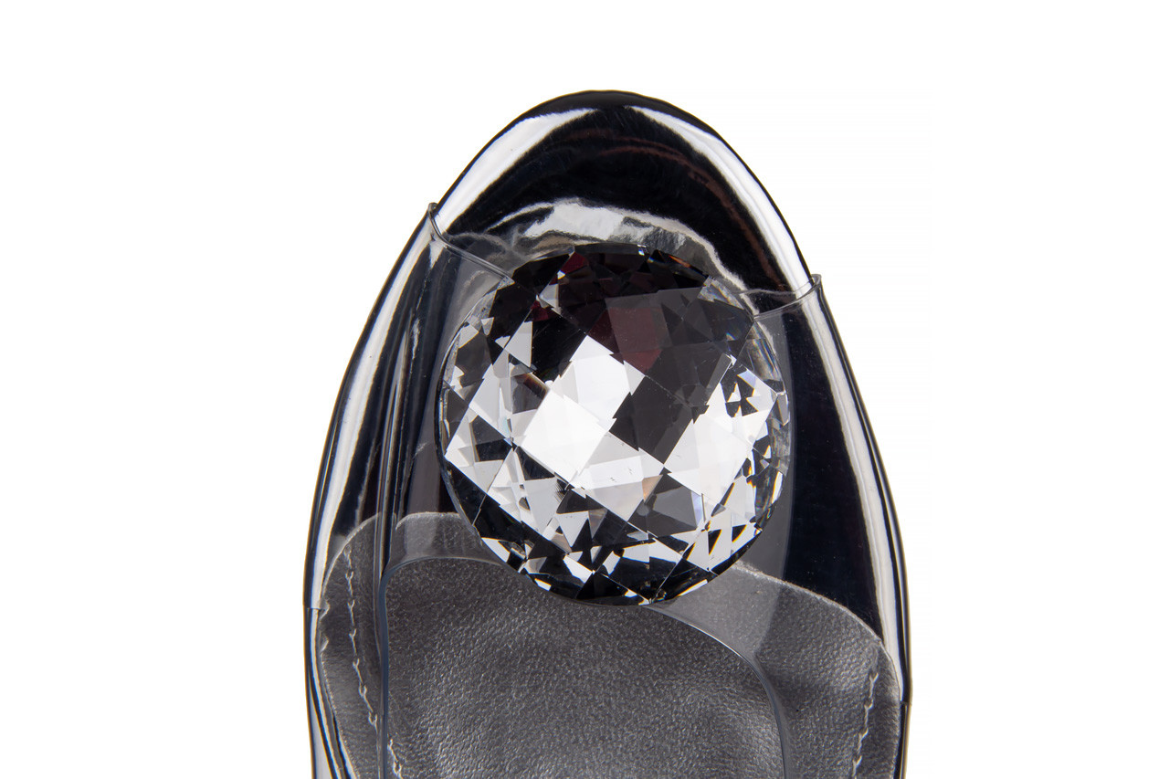 Sandały sca'viola g-15 silver 21 047183, srebro, silikon  - na obcasie - sandały - buty damskie - kobieta 19
