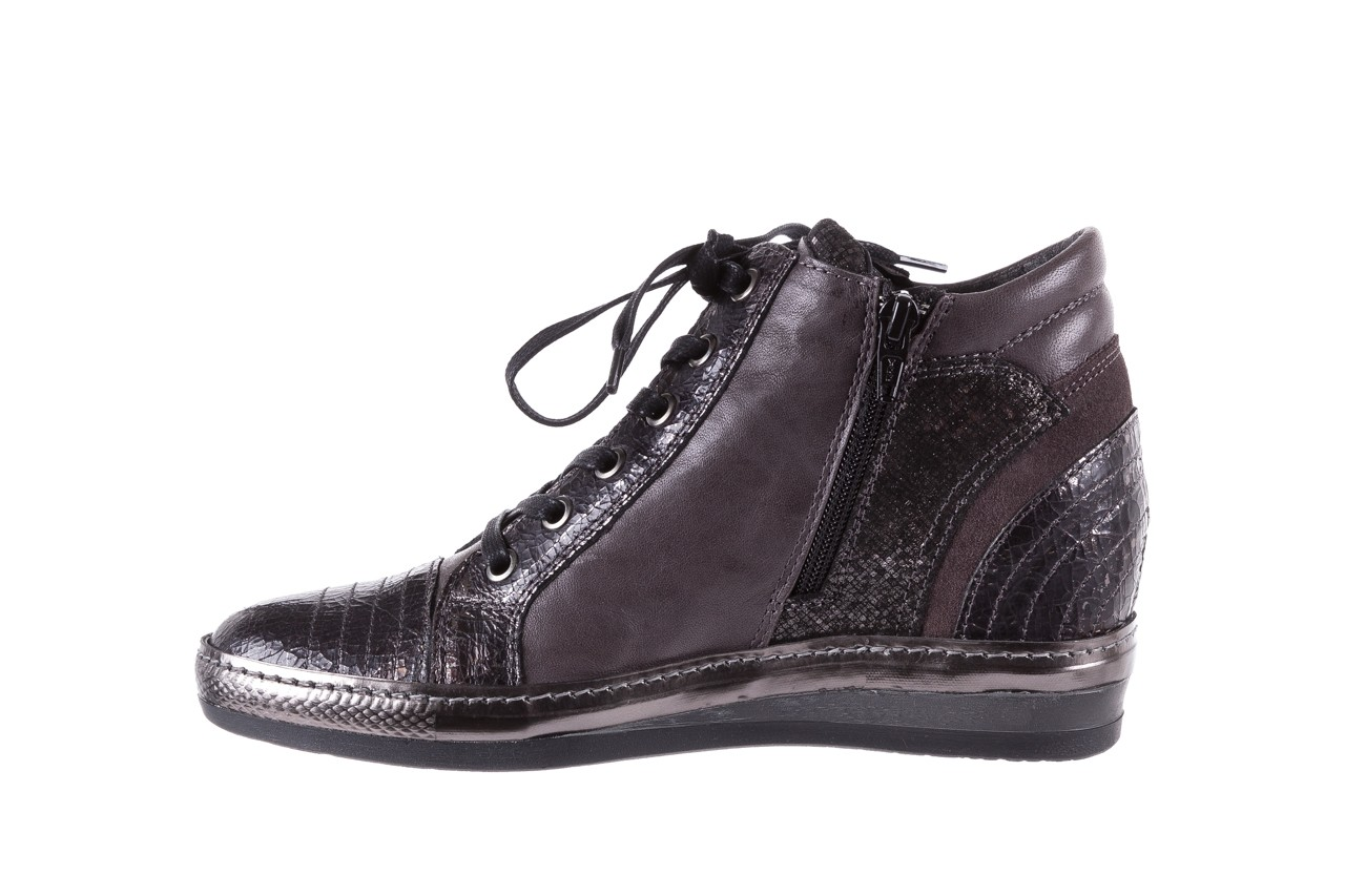 Sneakersy bayla-131 7109 grey, szary, skóra naturalna  - bayla - nasze marki 9