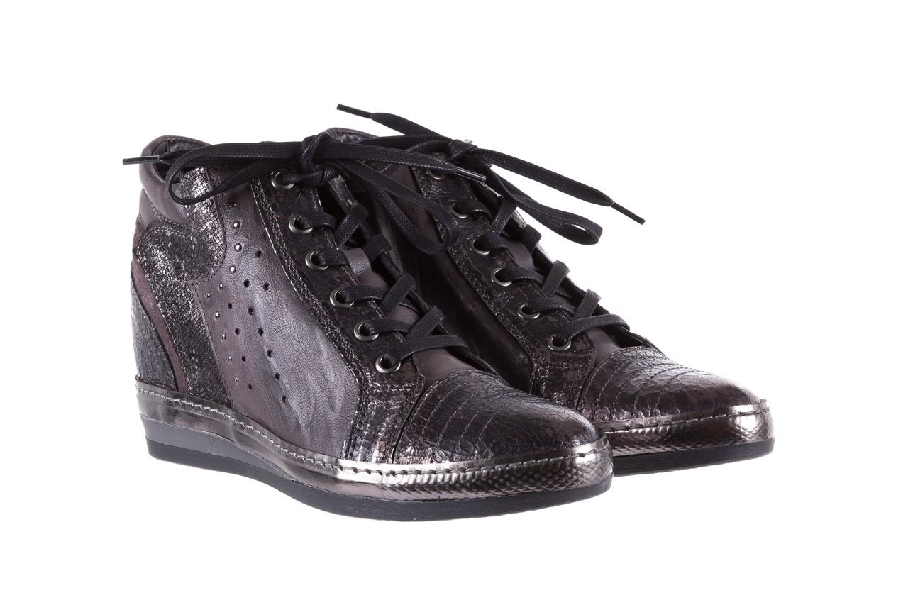 Sneakersy bayla-131 7109 grey, szary, skóra naturalna  - bayla - nasze marki 8