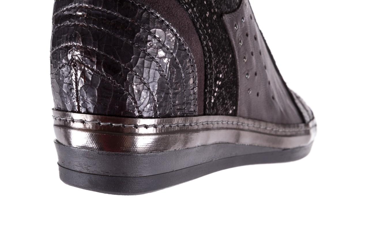 Sneakersy bayla-131 7109 grey, szary, skóra naturalna  - bayla - nasze marki 13