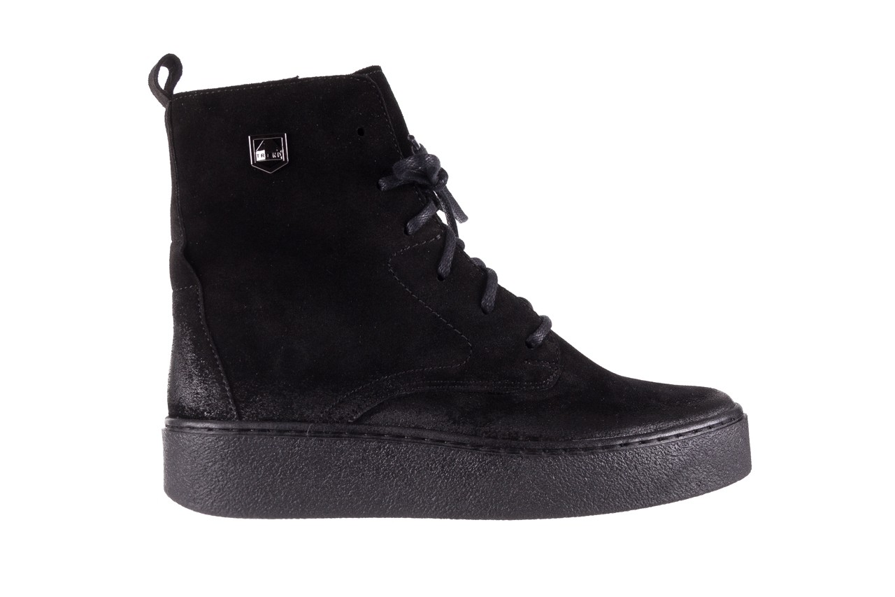 Trzewki bayla-100 1004 czarne sportowe trzewiki, skóra naturalna - trzewiki - buty damskie - kobieta 9